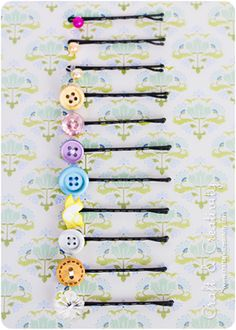 DIY hair bobby pins, this looks so easy, i will do this soon!