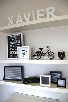 black and white boy room Instead of Xavier it would be Kyler :p