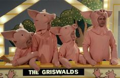 The Griswolds on Pig in a Poke game show in European Vacation