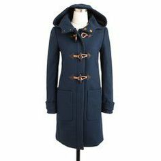 another nice dark colored coat for winter, even has a hood! Interesting, winter clothing options