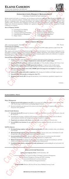 it senior technical project manager resume Places to Visit - construction manager resume sample