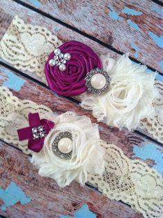 wedding garter / ULTRA violet  / bridal  garter/  lace garter / toss garter /  garter / vintage inspired lace garter/ U PICK Color. $24.99, via Etsy.