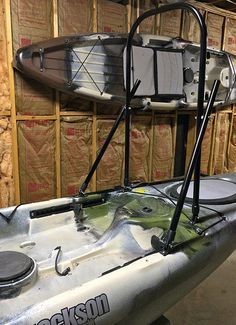 Kayak Leaning/Standup Bar - Made from Conduit Pipe