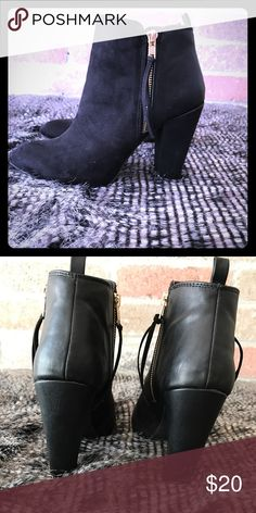 Black ankle boots Super cute black Mossimo ankle boots, size 8. Only worn a few times Mossimo Supply Co Shoes Ankle Boots & Booties