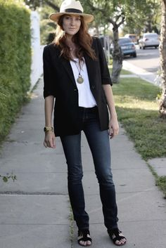 Samantha from Could I Have That? wearing J Brand jeans