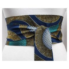 Navy Turquoise Ankara Obi Belt l African Print Obi Corset Belt ❤ liked on Polyvore featuring accessories, belts, turquoise belt, obi belts, wide corset belt, formal belts and navy blue belt