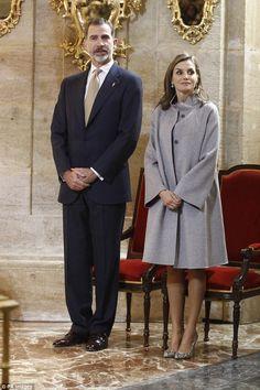 Queen Letizia joins King Felipe in Caravaca de la Cruz   Daily Mail Online
