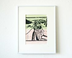 Etsy Shop, Woodblock Print, Wood Carvings, Art Print, Printing, Handmade, Birthday