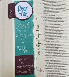 Illustrated Faith Journaling Bible- {Fear Not} Isaiah 40:10