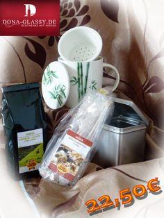 22,50€ - 5% Neukunden-Rabatt Geschenkset Grüner Tee - Geschenk - Geschenkidee