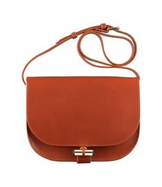 Sac June - Women's Bag - Smooth, shiny leather - Tobacco - A.P.C. accessories
