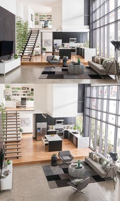 4 Duplex Lofts With Massive Windows