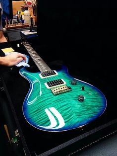 Paul Reed Smith #PRS • A polished beauty! Aqua #Guitar  http://ozmusicreviews.com/music-promotions-and-discounts