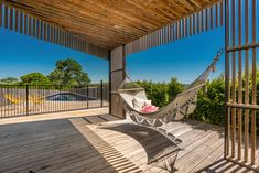 Rustic timber decking and timber battens add character to this outdoor area. The outlook from the hammock would be one of relaxation and comfort. Timber Mouldings, Timber Battens, Timber Deck, Western Red Cedar Cladding, Ipswich Qld, Exterior Cladding, Australian Homes, Outdoor Areas, Design Consultant