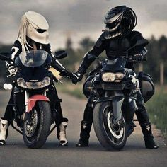 His and hers Predator helmets