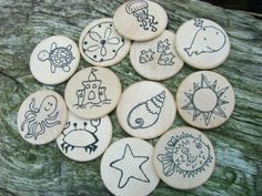 Make a Match - Beach Edition - A Montessori and Waldorf Inspired Matching and Memory Game. $21.00, via Etsy.
