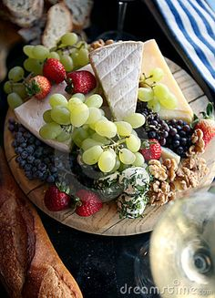 Fresh Fruit And Cheese Platter Royalty Free Stock Photography - Image: 4084067