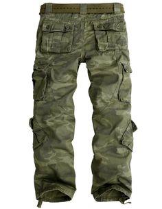 Match Men's Wild Cargo Pants #3357(Khaki camo,36)