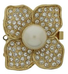 ThreeStrand Square Stylized Flower Clasp with by GoldenTwinClasps, $43.25