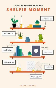 How to Create the Ultimate Shelfie Moment With Etsy Pieces Check out the great . - How to Create the Ultimate Shelfie Moment With Etsy Pieces Check out the great Etsy vinatge vases - Interior Design Tips, Interior Styling, Diy Design, Bookshelf Styling, Bookshelf Organization, Shelfie, House Styles, Home Decor, Create