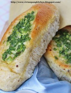 Vivian Pang Kitchen: Spring Onions Bun/Sponge Dough Method