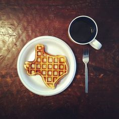 I'm not a fan of the state but who doesn't appreciate a waffle in the shape of Texas?