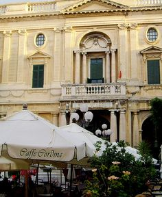 Caffe Cordina - opposite the National Library in Valletta.