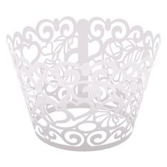 """Hoffmaster 611153 Laser Cut Cupcake Wrapper, White, Hearts, 9"""" x 3-3/4"""" (Pack of 250) Hoffmaster http://www.amazon.com/dp/B00I4SCDWI/ref=cm_sw_r_pi_dp_.KcJtb0T8BGZXGBG"""