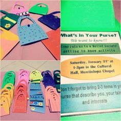Our January 2015 Relief Society Additional Activity: What's in Your Purse?