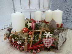 ♥♥ Aljonuschka ♥♥ *Ein wunderschöner Adventskranz wie aus einem russischen Märchen...* Mit vielen und duftenden Zutaten aus der Natur und hübschen rot/weissen Accessoires +Du findest auf...