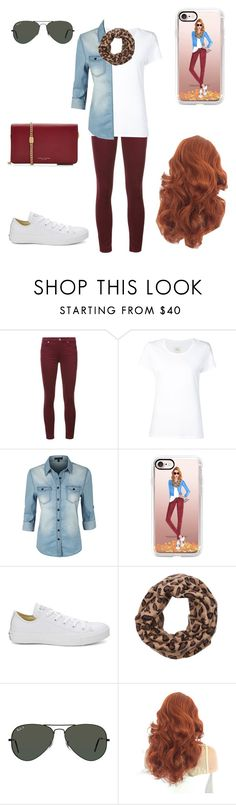 """Untitled #366"" by a-hidden-secret ❤ liked on Polyvore featuring 7 For All Mankind, Max 'n Chester, LE3NO, Casetify, Converse, Wyatt, Ray-Ban and Marc Jacobs"