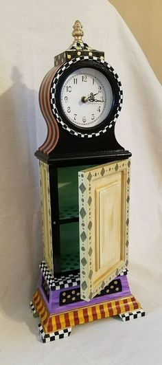 "22"" courtly big ben clock, mackenzie childs decoupage, supercrazychick hp check"