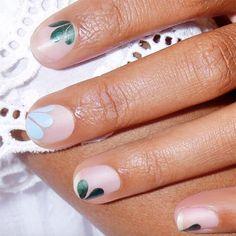 Blooming nail art ahead.
