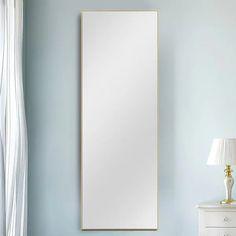 Over The Door Mirror, Mirror Door, Full Length Mirror Wall, Mirror Shapes, White Mirror, Wall Mounted Mirror, Home Decor Outlet, Aluminium Alloy, Modern Contemporary