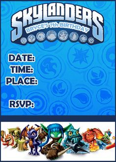 skylanders party | Need help for a Skylanders Birthday - The DIS Discussion Forums ...