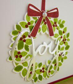 Just Sponge It: Wondrous Wreath Bundle, DIY, Stampin' Up!, Christmas cards