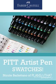 Swatch your Bullet Journal with Pitt Artist Pens! Every time I switch journals or sketchbooks, I feel that it's important to create swatches for my most used tools. My personal favorites are the Faber-Castell Pitt Artist Pens. You can be creative with your approach, or create a color chart for easy reference. It's completely up to you! Pitt Artist Pens, Used Tools, Faber Castell, Sketchbooks, Journals, Swatch, Alcohol, Bullet Journal, Chart