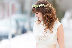 An Indie Wedding Social: Part 2 - Chelsea Lee Flowers - Candace Berry Photography - Halifax, Nova Scotia Wedding - Floral Crown Floral Headband Wedding, Floral Headbands, Floral Wedding, Wedding Flowers, Wedding Dresses, Wedding Hair And Makeup, Hair Makeup, Soft Curls, Wedding Show