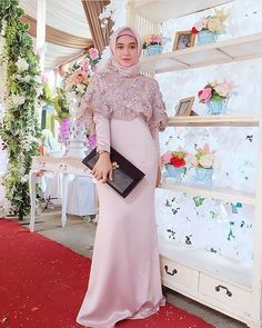 """Inspired by "" Kebaya Hijab, Kebaya Dress, Muslim Fashion, Hijab Fashion, Hijab Dress Party, Model Kebaya, Dress Brokat, Bridal Hijab, Muslim Dress"