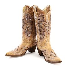 BootDaddy Collection with Corral Pink Wing Cowgirl Boots
