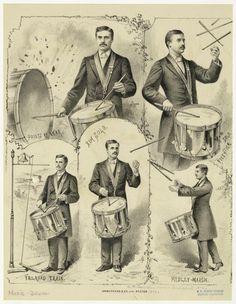 R Carrington Champion Drum Soloist 1870 Music Items, Music Stuff, Drum Drawing, Drums Art, Vintage Drums, Drum Machine, Snare Drum, Percussion, Evolution