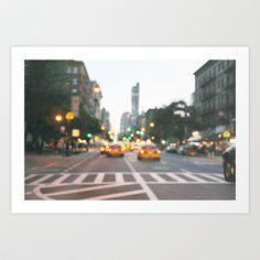 New York City Blur Art Print by scarlet viola // Society 6