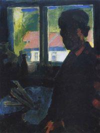 Önarckép müteremben Self-portrait in the studio by Oszkár Nagy