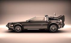 This is some pretty impressive 3D modelling of Back To The Future's DeLorean...