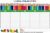 Lukujärjestyspohja Classroom Labels, Help Teaching, Calendar, Education, School, Ideas, Deutsch, Schools, Educational Illustrations