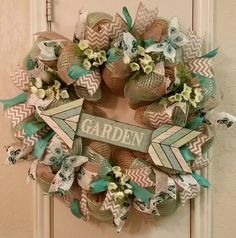 Garden Wreath by SouthTXCreations on Etsy