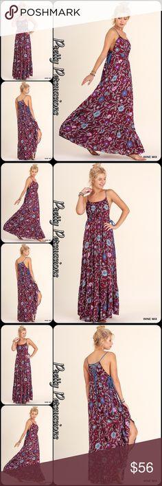 NWTFloral Lace Up Spaghetti Strap Flowy Maxi Dress Description Coming Soon Pretty Persuasions Dresses Maxi