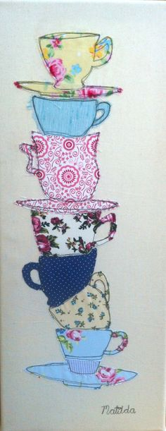 Free machine embroidery picture on canvas by Handmadebymatilda, £18.00