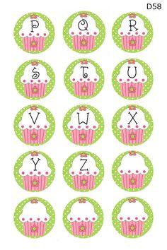 Cupcake alphabet p-z