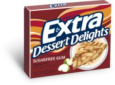 Dessert-flavored gum. I always thought it would be great to have Willy Wonka-style pie-flavored gum. Now, it just sounds gross. I bought it once. Apple pie-flavored. It was an impulse buy in the grocery line just to see if I would dislike it as much as I thought I would. Conclusion: Apple Pie = Good. Chewing Gum = Excellent. Apple Pie Flavored Gum = Ptooey!